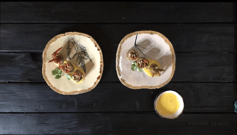 Ролл с курицей и овощами
